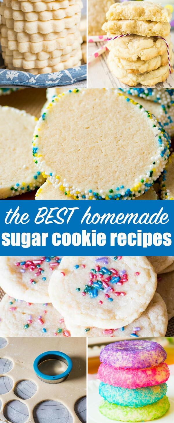 Wondering how to make sugar cookies? Everyone has a different idea of the perfect sugar cookies. Here you'll find descriptions and recipes for all kinds of sugar-filled cookies!