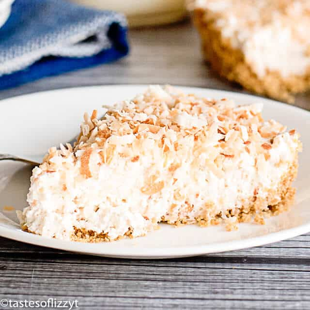coconut cheesecake tart