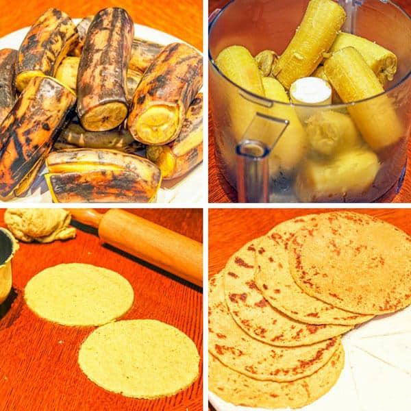 how to make plantain tortillas