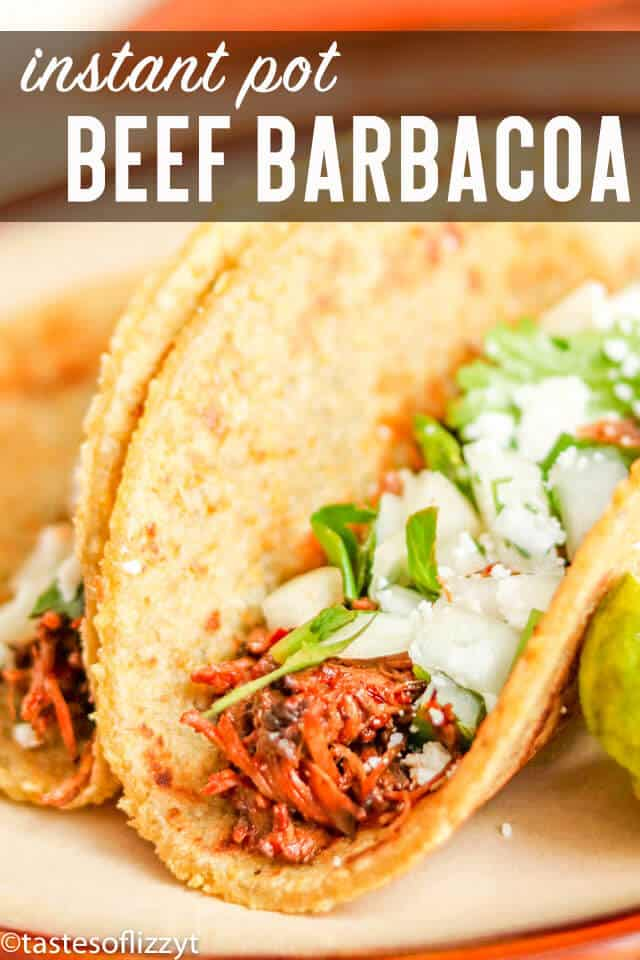 The amazing flavors of a classic Mexican recipe made quickly and easily. Instant Pot Barbacoa Beef is excellent in tacos, burritos and Mexican casseroles.#instantpot #beef #barbacoa #mexican #tacos #burritos
