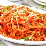 Instant Pot Spaghetti with Homemade Meat Sauce
