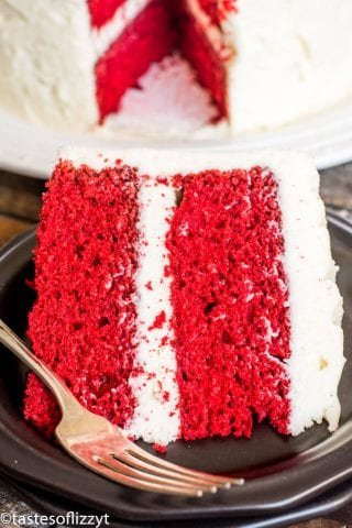 easy red velvet cake with frosting