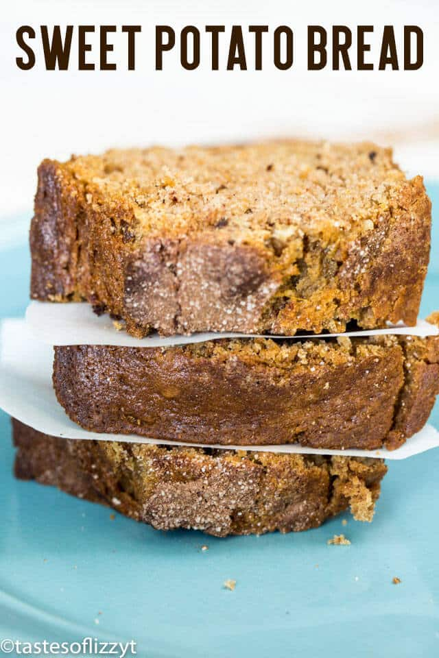 Old Fashioned Sweet Potato Bread is delicious and comforting. This quick bread recipe can be made into 4 mini loaves or one large loaf.