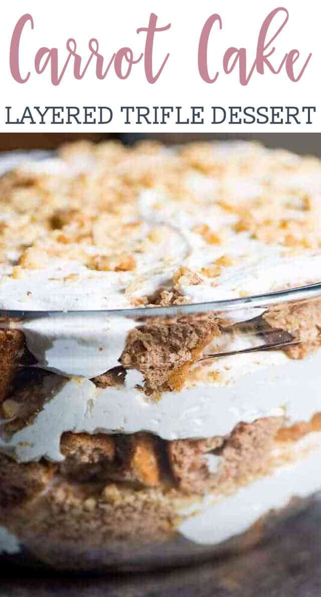 Cream Cheese Carrot Cake Trifle via @tastesoflizzyt