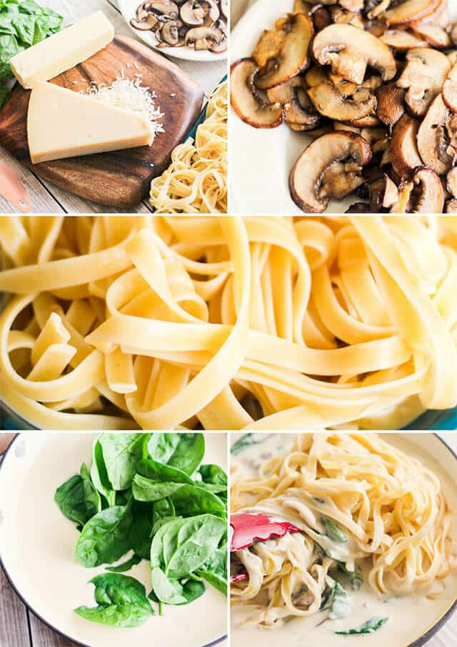 how to make mushroom alfredo sauce