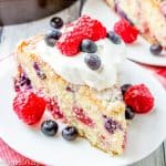 Red White & Blue Berry Cake