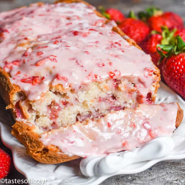 Strawberry Bread Recipe With Fresh Strawberry Glaze Easy Quick Bread