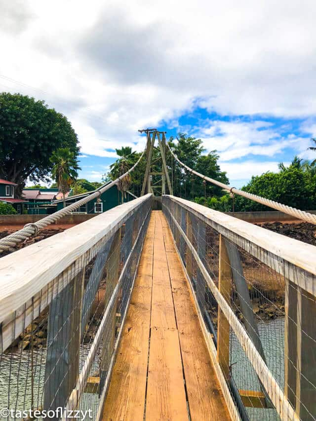 Hanapepe swinging bridge kauai
