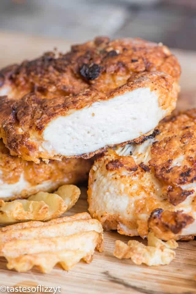 A close up of buttermilk fried chicken