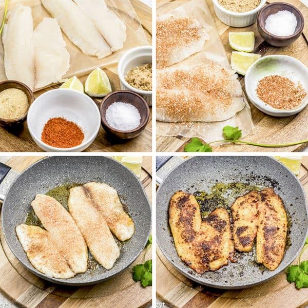 how to make chili lime tilapia collage