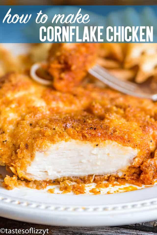 cornflake chicken recipe title image