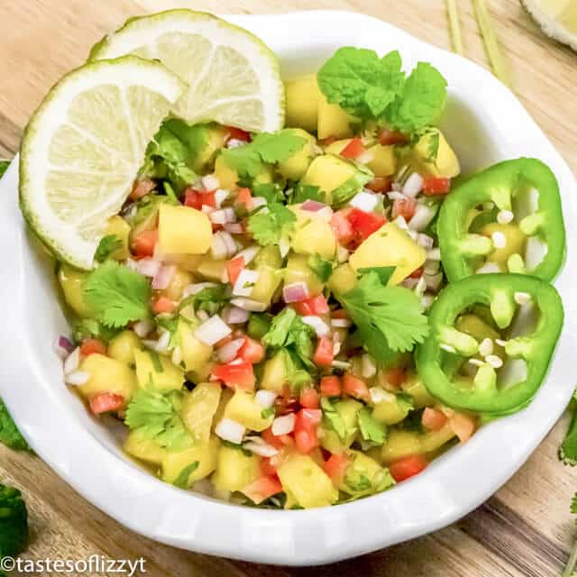 salsa with fresh mangoes