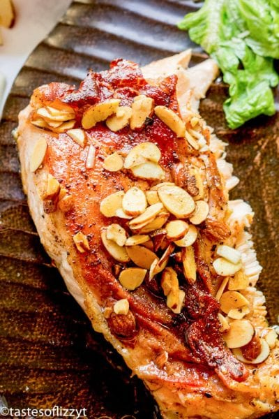 Salmon with Brown Butter Almond Sauce