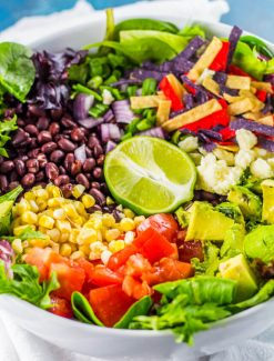 how to make vegetarian taco salad