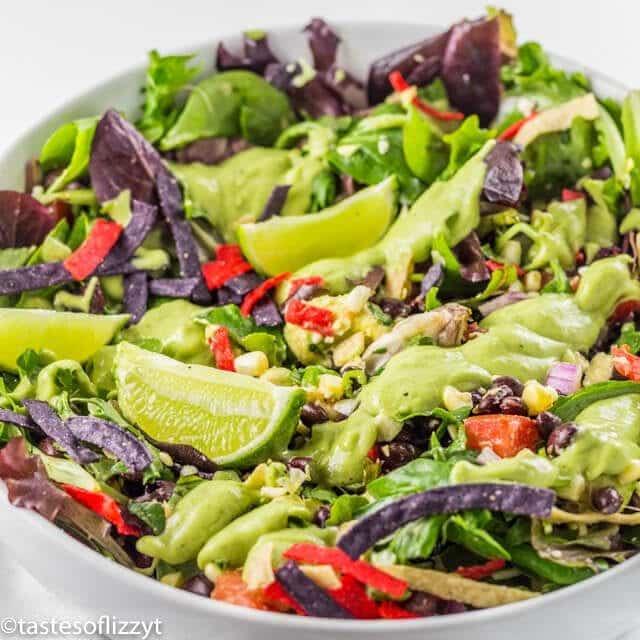 bowl of vegetarian taco salad