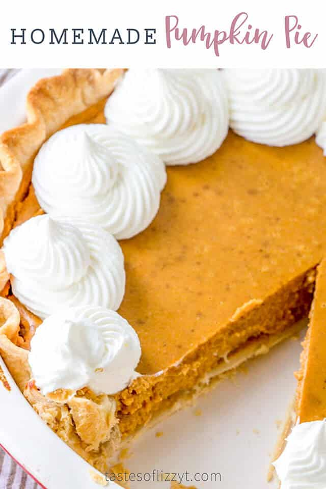 titled image (and shown): homemade pumpkin pie