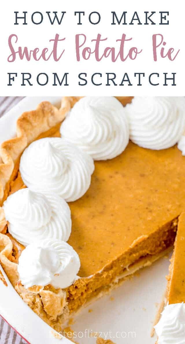 titled photo (and shown): How to Make Sweet Potato Pie from Scratch