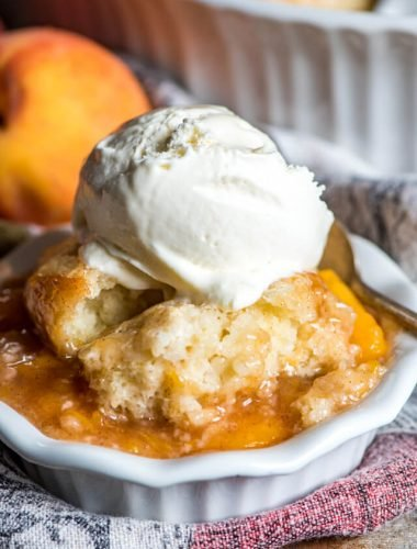best ever homemade peach cobbler