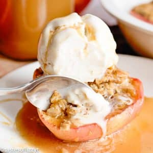 Apple Crumble Baked Apples