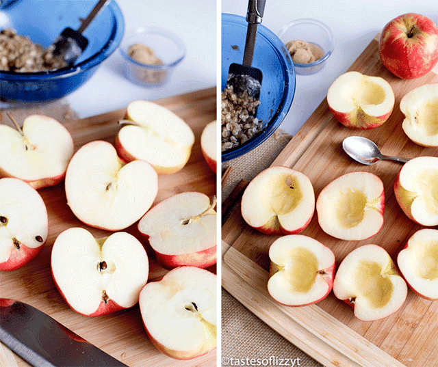 how to slice and core apples