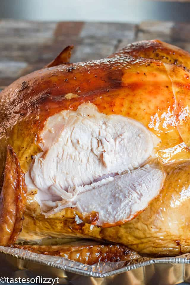 A close up of food, with thanksgiving turkey