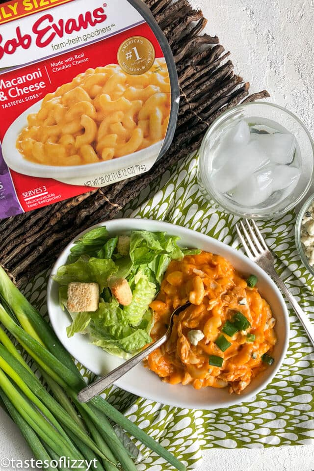 A plate of food on a table, with Chicken Casserole and salad