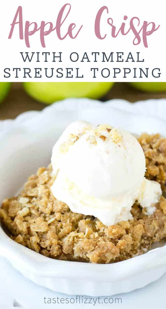 titled image (and shown): Apple Crisp with Oatmeal Streusel Topping