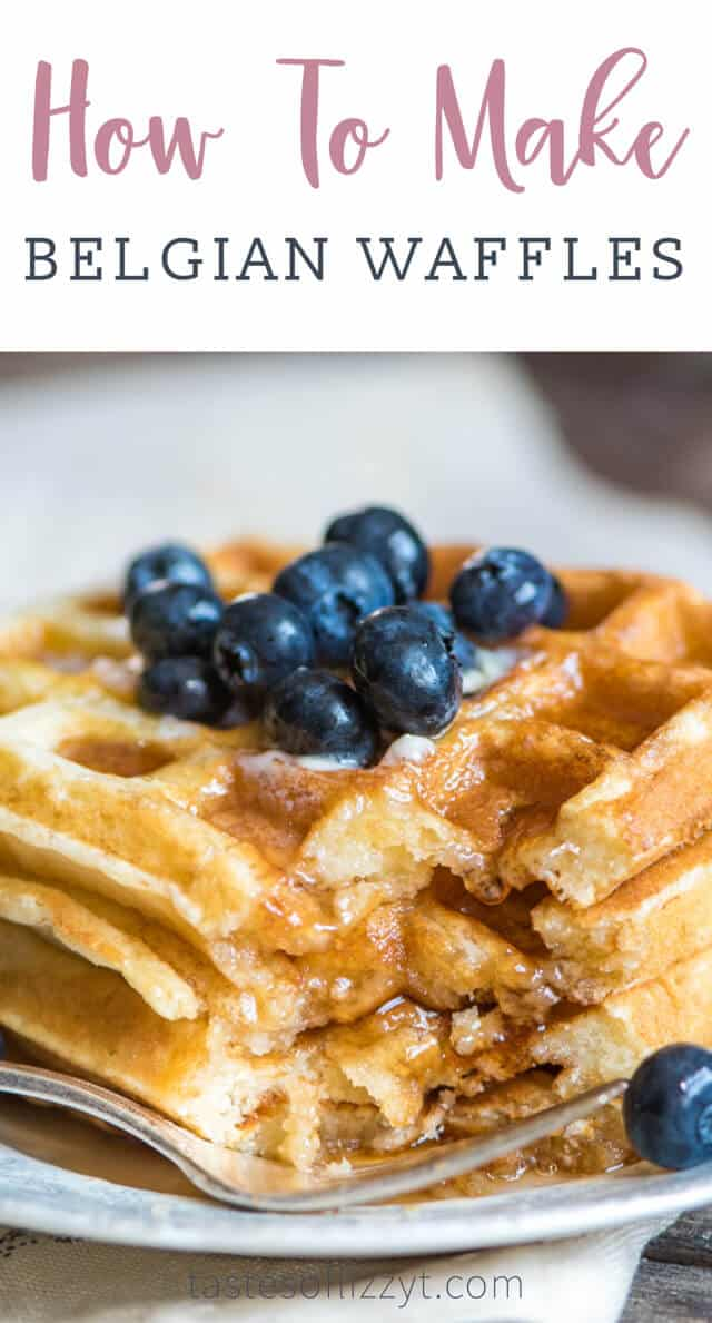 The best Belgian waffle recipe! How to make homemade waffles and freeze them for an easy breakfast on the go.