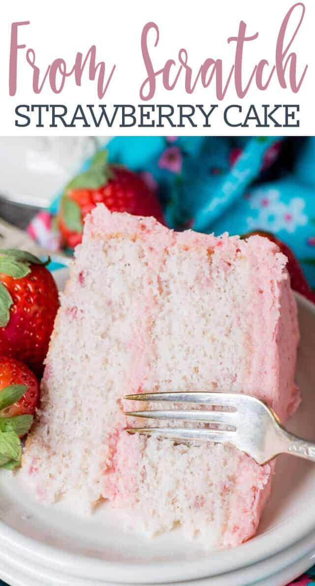 Homemade Strawberry Cake Recipe
