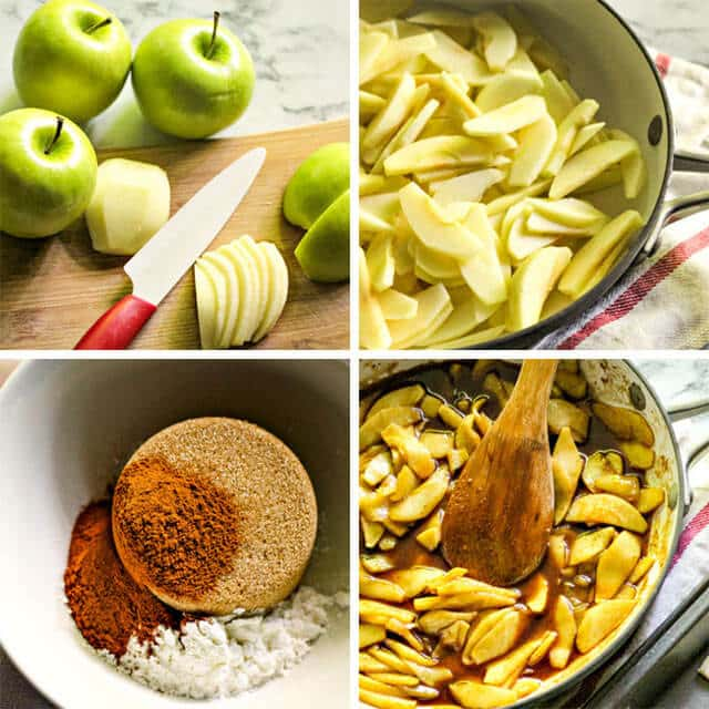 how to soften apples for pies