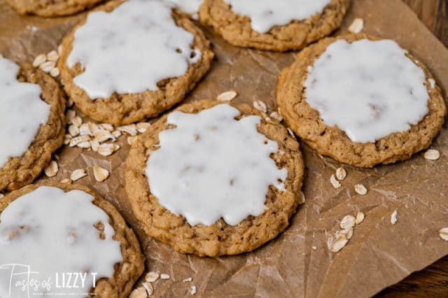 oatmeal cookies on parchment paper