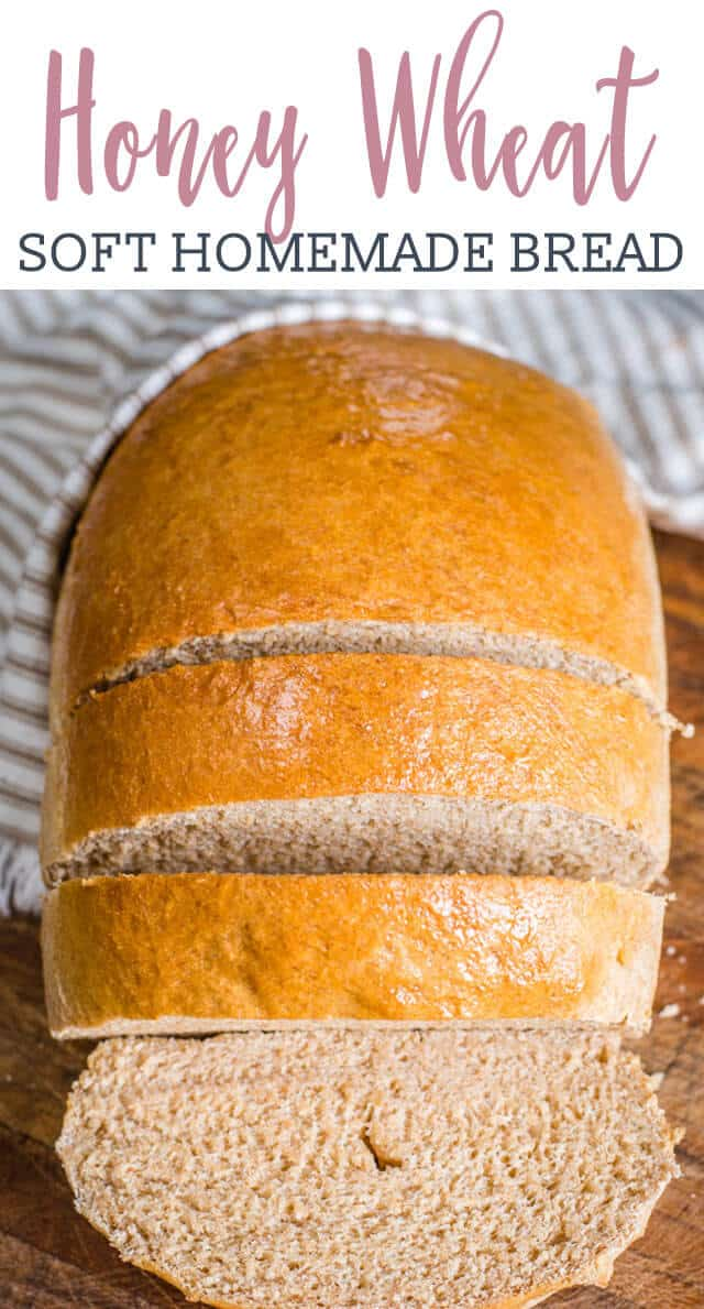 sliced loaf of honey wheat bread title image