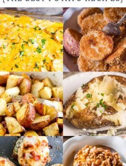 Learn about common types of potatoes and get our best potato recipes! Baked potato recipes, potato main dish recipes, potato side dishes, crispy roasted potatoes and even more tasty potato recipe ideas!