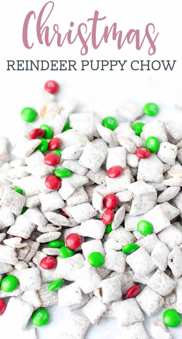 Make sure Santa stops at your house by attracting reindeer! This Reindeer Chow recipe turns the classic muddy buddies puppy chow into a Christmas treat that the kids will love.