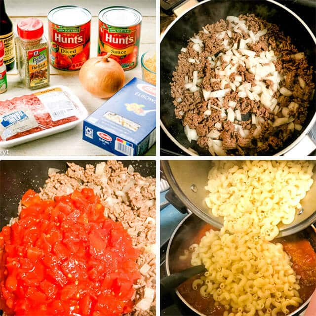what is in american goulash