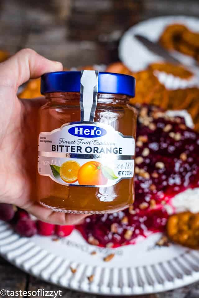 A close up of bitter orange jelly