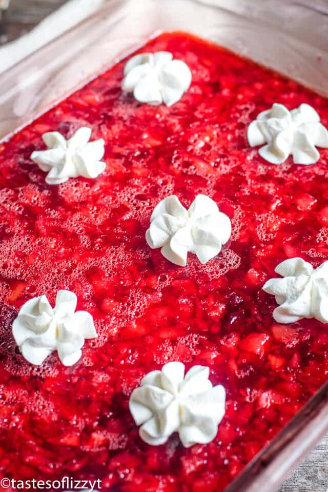 easy cranberry jello salad with whipped cream