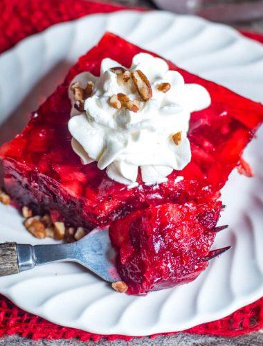 raspberry jello with cranberries