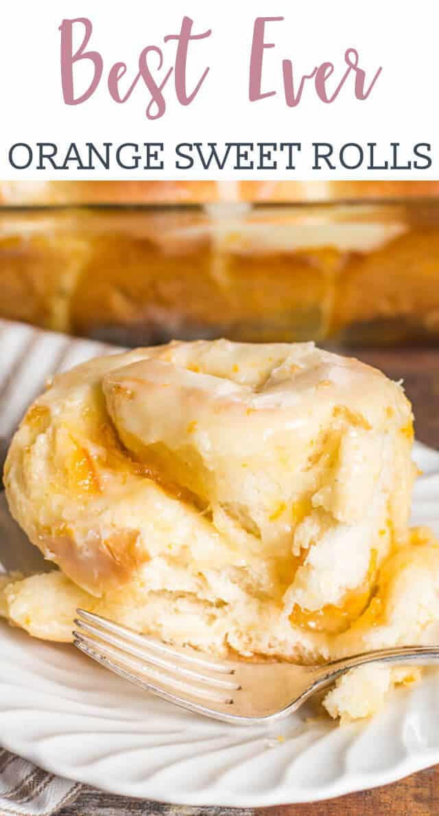 Looking for a new sweet roll to try? Try this Orange Rolls recipe that is infused with orange flavor in the dough, filling and the sweet glaze on top. These super soft rolls are THE BEST! via @tastesoflizzyt