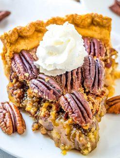 pecan pie with dark brown sugar