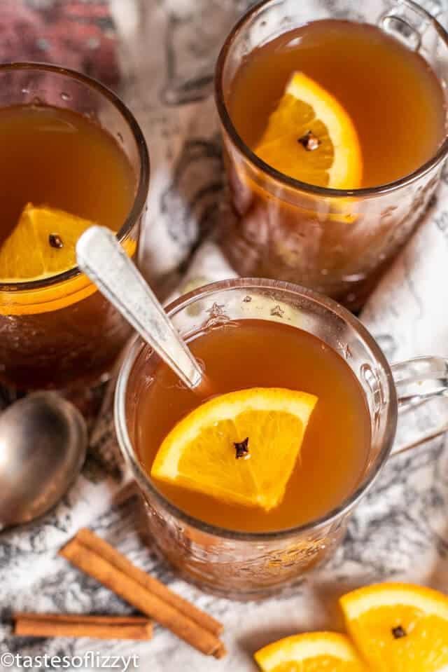 from scratch russian tea in a glass