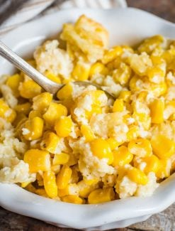 scalloped corn with saltine crackers
