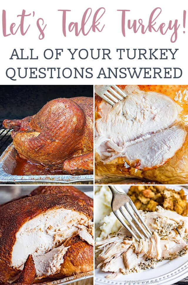 Thanksgiving Day tips on everything you need to know about how to cook a turkey! From brining to smoking to roasting, serve a delicious turkey, every time. #thanksgiving #turkey #dinner via @tastesoflizzyt