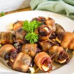 batch of stuffed dates with bacon