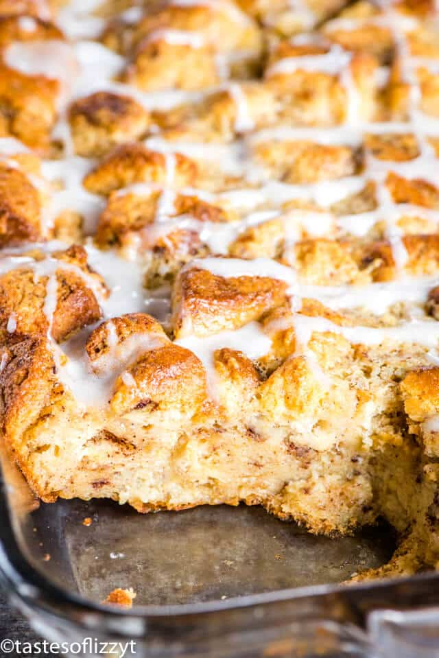 Cinnamon Roll Bread Pudding Recipe Easy Cinnamon Roll Casserole