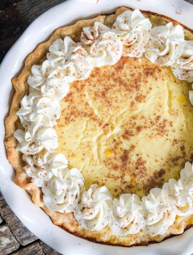 the best custard pie recipe with nutmeg