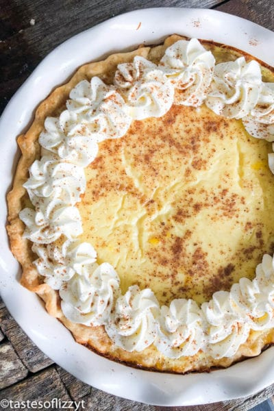 Homemade Custard Pie