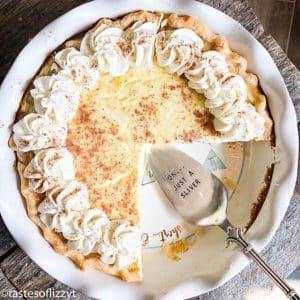 how to make egg custard pie