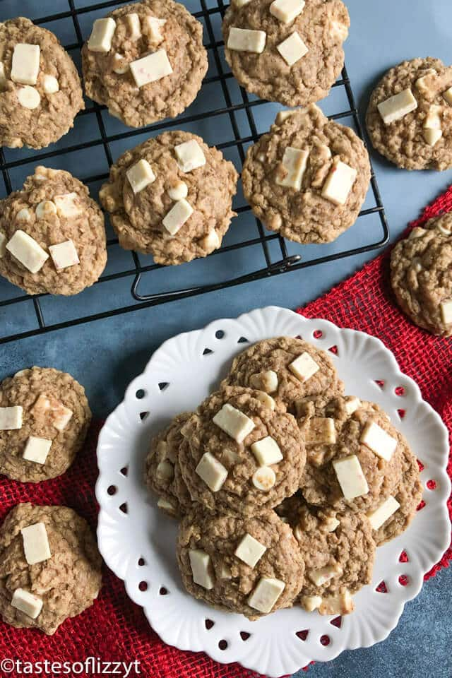 plate of gluten free oatmeal cookies