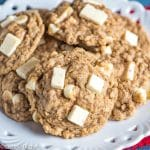 gluten free oatmeal cookies on a cookie platter
